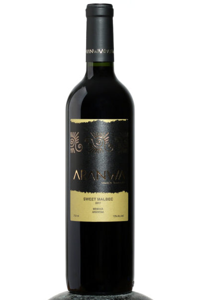 bottle of Aranwa Sweet Malbec wine