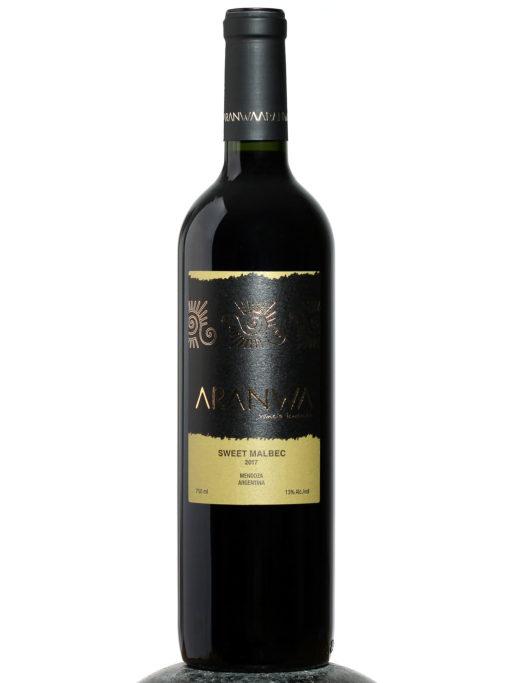 bottle of Aranwa Sweet Malbec wine
