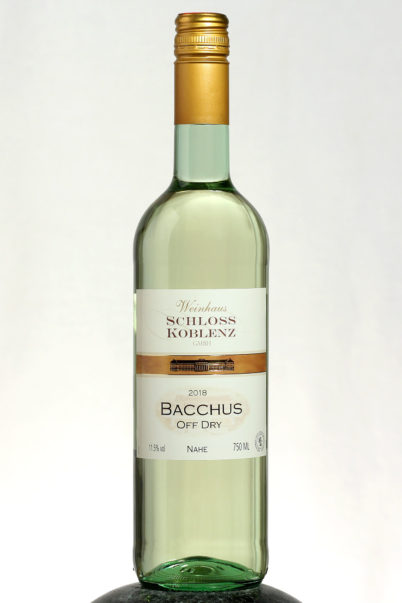 bottle of Bacchus wine