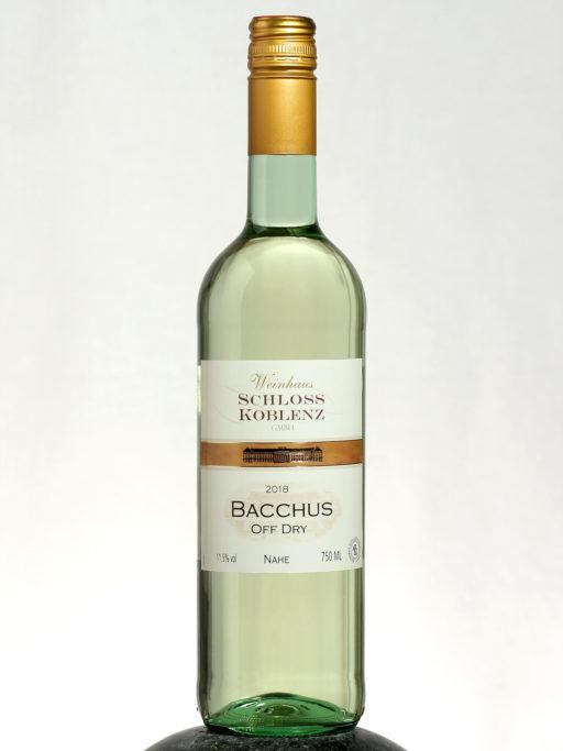 bottle of Bacchus wine