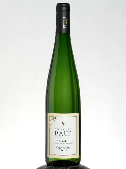 a bottle of Charles Baur Alsace Sylvaner wine