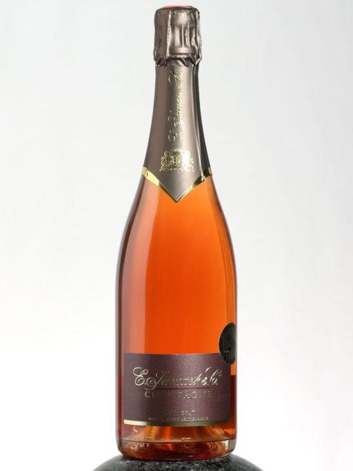 a bottle of Jamart Rose Brut Champage