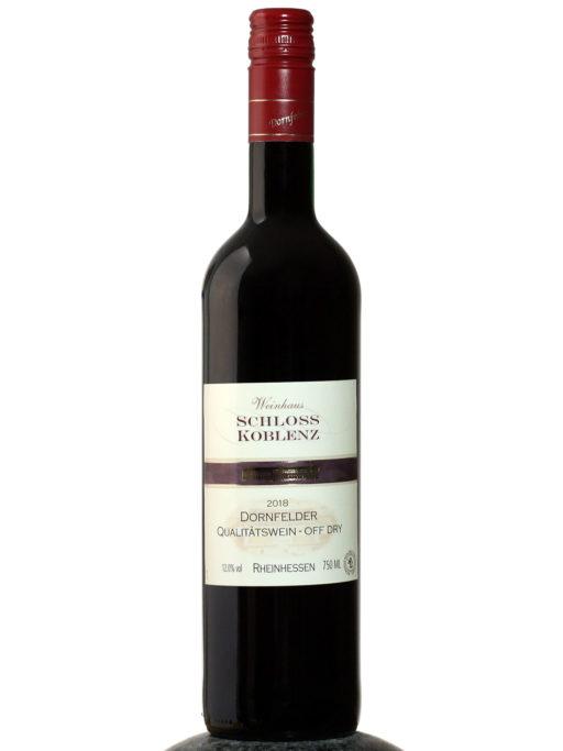 bottle of Schloss Koblenz Dornfelder 2018 wine