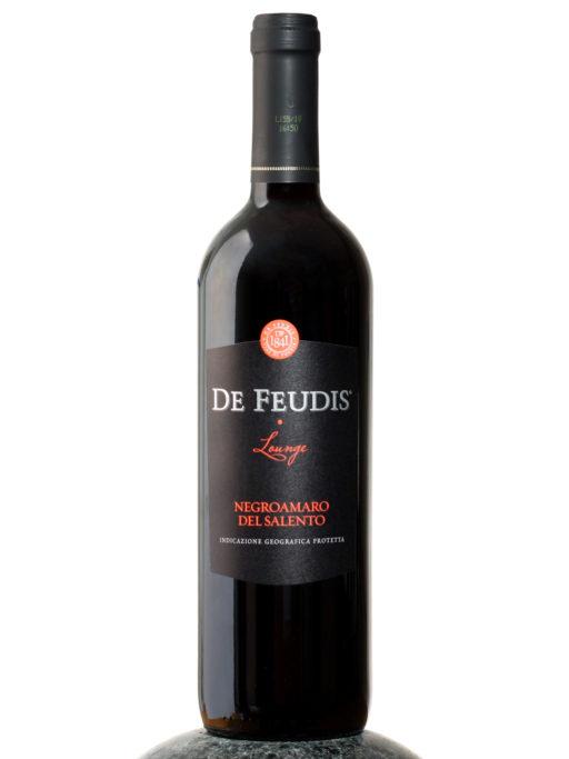 bottle of De Feudis Lounge Negroamaro del Salento wine