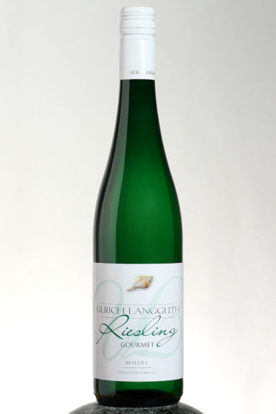 bottle of Ulrich Langguth Gourmet Riesling wine