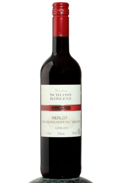 bottle of Schloss Koblenz Merlot Spatburgunder wine