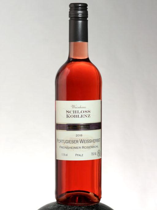 bottle of Schloss Koblenz Portugieser Weissherbst wine