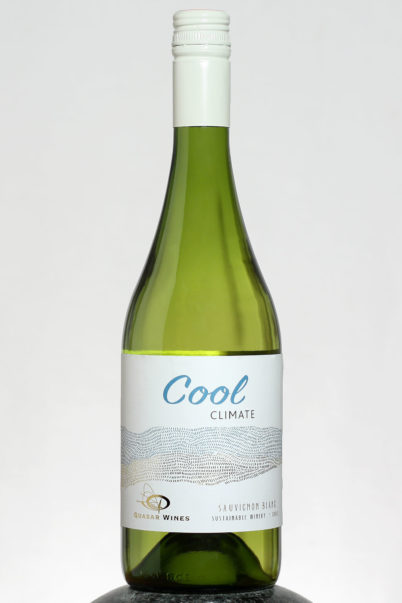 bottle of Quasar Cool Climate Sauvignon Blanc wine