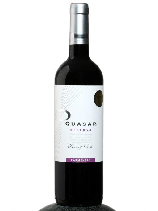 bottle of Quasar Reserva Carmenere wine