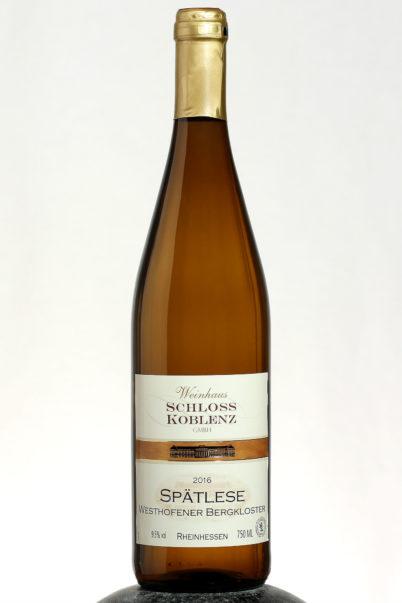 bottle of Schloss Koblenz Spatlese wine