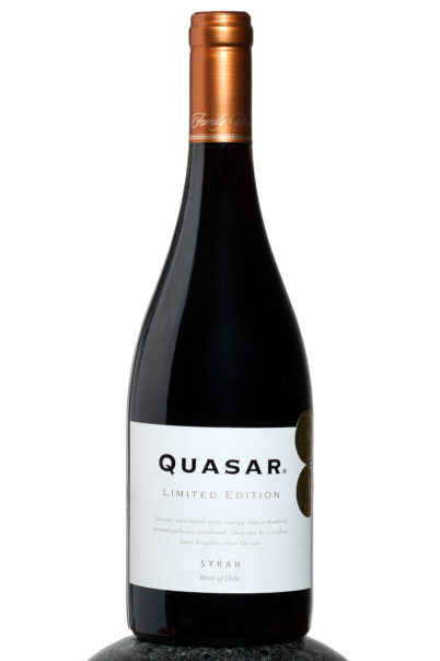 bottle of Quasar Limited Edition Syrah wine