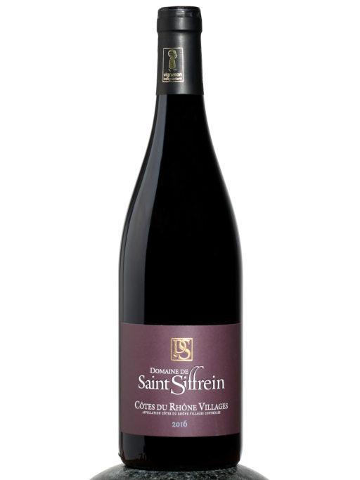 bottle of Saint Siffrein Cotes du Rhone Villages wine