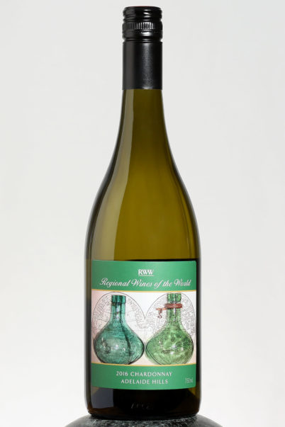 bottle of RWW Chardonnay wine