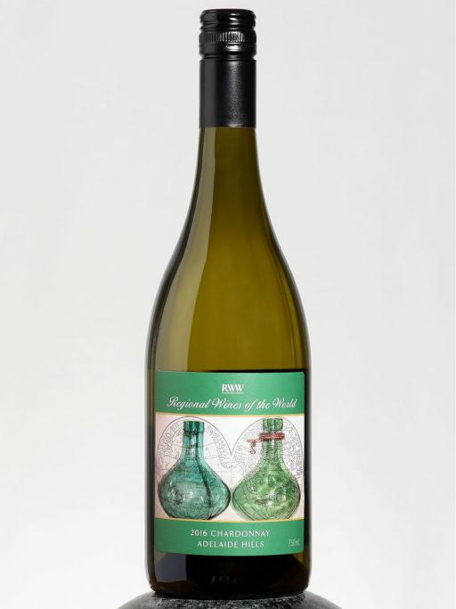 bottle of RWW Chardonnay wine