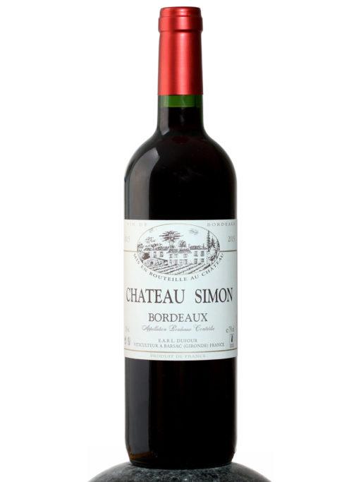a bottle of Chateau Simon Bordeaux wine