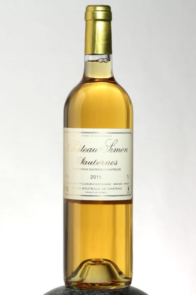 bottle of Chateau Simon Sauternes wine