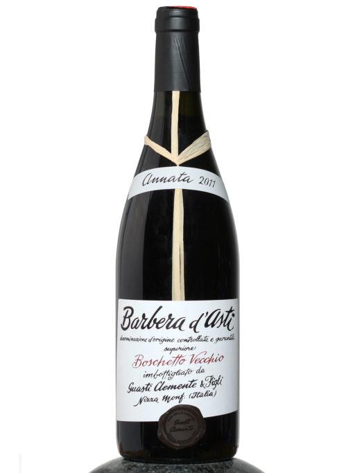 bottle of Barbera d´Asti Boschetto Vecchio wine