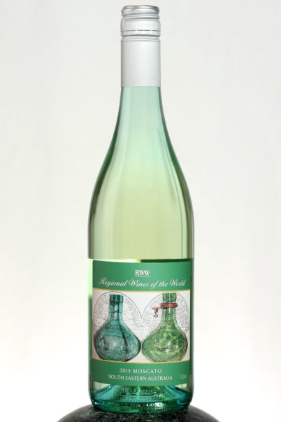 bottle of RWW Moscato wine