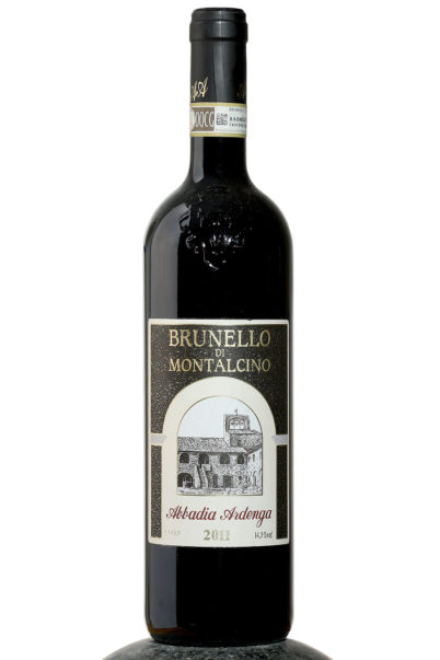 bottle of Brunello di Montalcino Abbadia Ardenga wine
