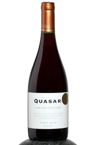 bottle of Quasar Pinot Noir wine