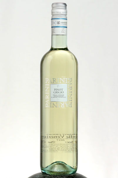 bottle of Parini Pinot Grigio wine