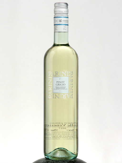 bottle of Parini Pinot Grigio wine