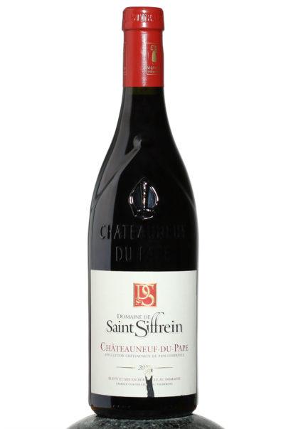bottle of Domaine de Saint Siffrein Chateauneuf du Pape wine