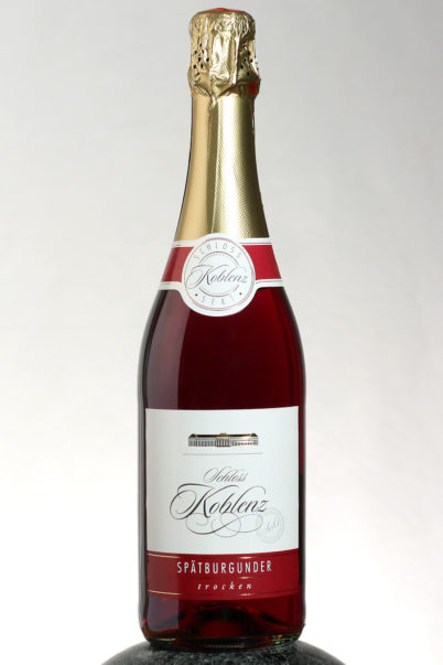 bottle of Schloss Koblenz Spatburgunder Sekt wine