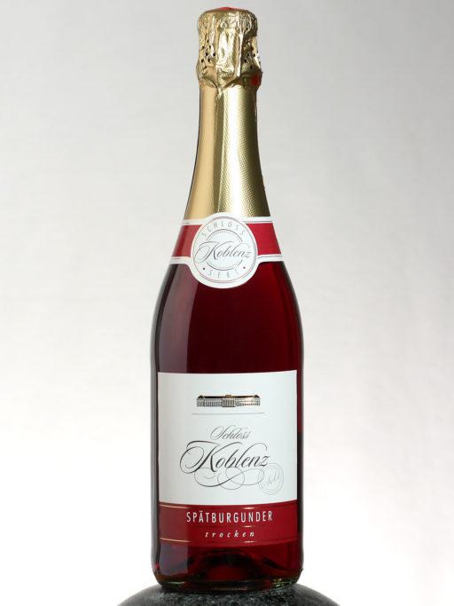 bottle of Schloss Koblenz Spatburgunder Sekt wine