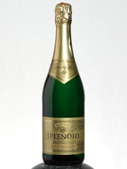 bottle of Splendid Sekt Halbtrocken wine