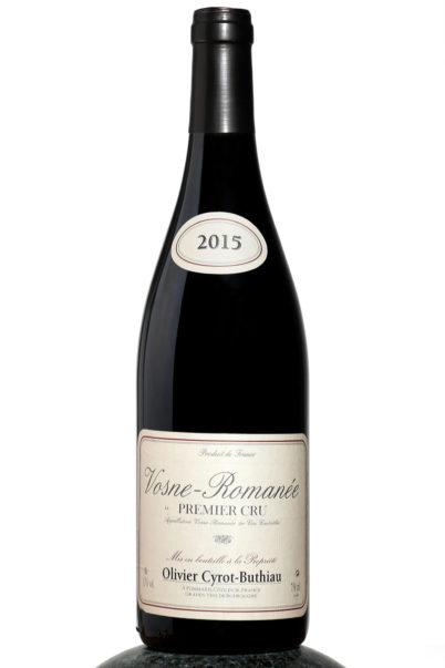 bottle of Vosne Romanee Premier wine